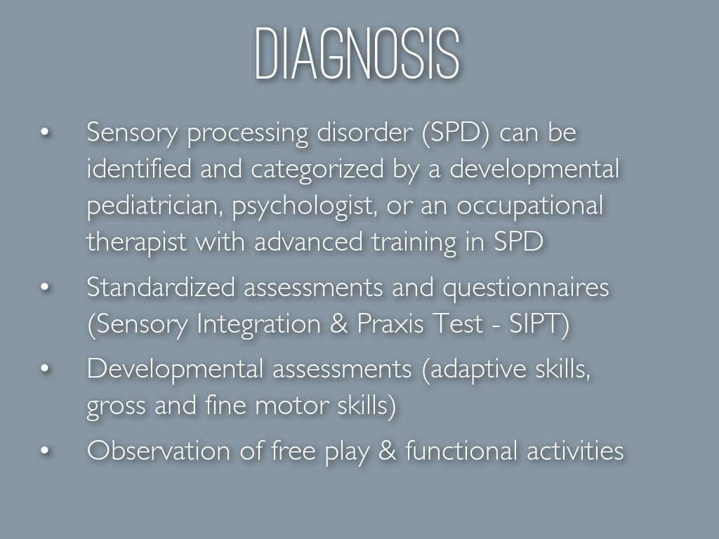 sensory processing disorder spd Common signs of sensory processing problems, including a printable sensory checklist.