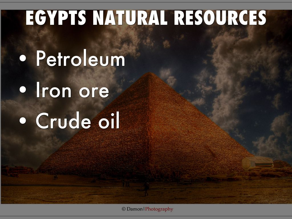 Egypt By Chance Hunt - Natural resources in egypt