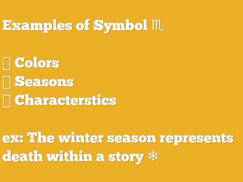 Copy Of Copy Of Allusion Figurative Language Symbol