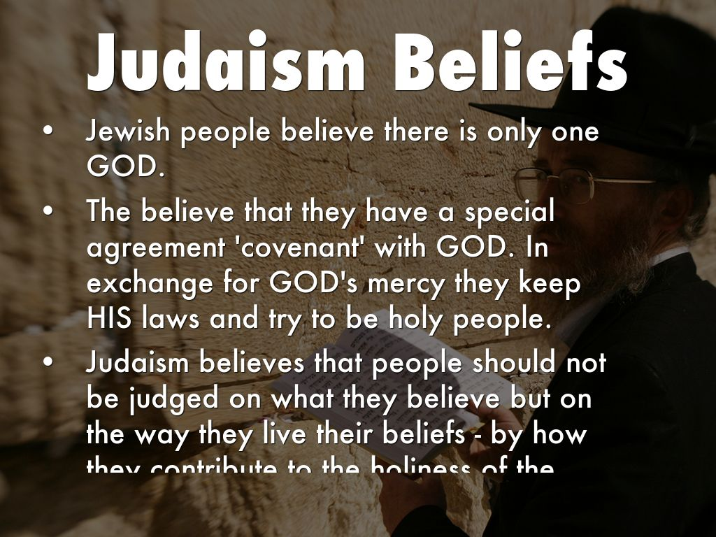 what does the jewish religion believe in