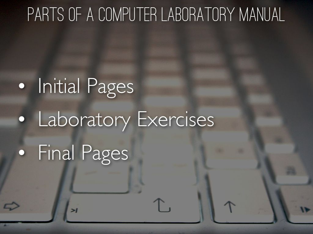 COMPUTER LAB MANUAL