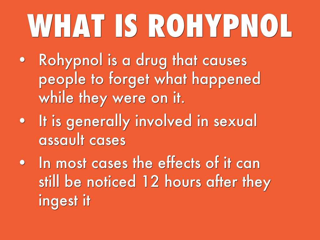 rohypnol essay Learn how to protect yourself from becoming a victim of the date rape drug rohypnol, and find out what to do if you have been raped.
