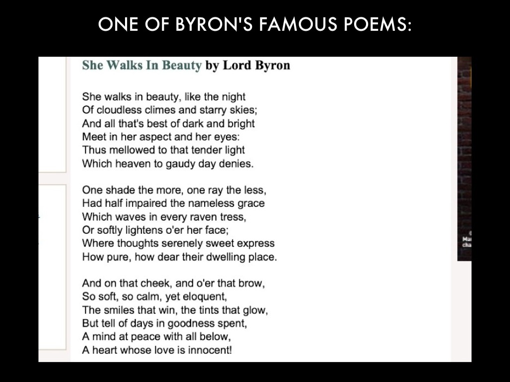 an overview of the lord byrons poem euthanasia Euthanasia by lord byron - when time, or soon or late, shall bring the dreamless sleep that lulls the dead, oblivion may thy languid wing wave.