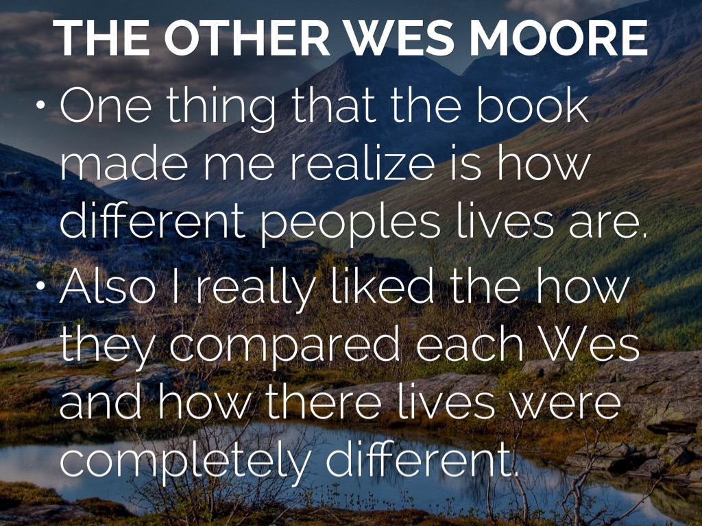 the other wes moore the impact