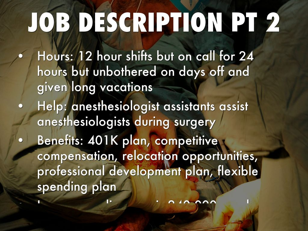 Anesthesiologist by Madison Nassar – Anesthesiologist Job Description