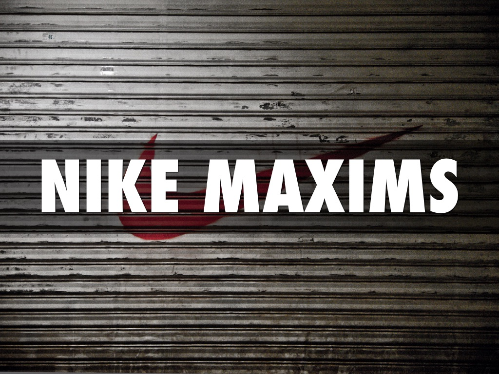 Nike Maxims by David Kazaya