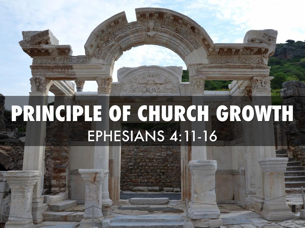 principle for biblical church growth Author gary mcintosh explores the biblical principles for church growth and  applies  according to biblical church growth, growing churches always  evidence a.