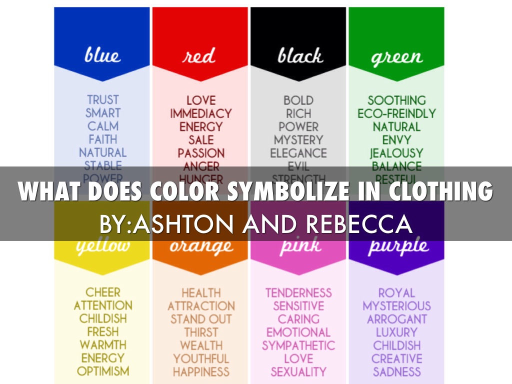 What does color symbolize in clothing by ashton gibson what does color symbolize in clothing biocorpaavc