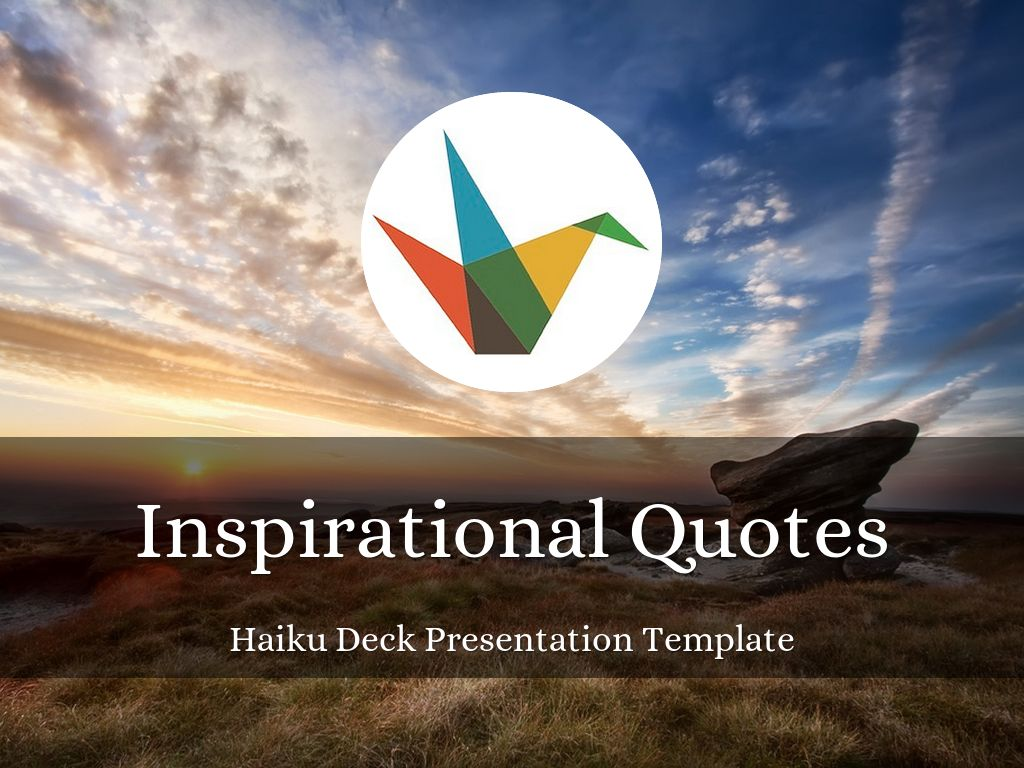 inspirational quotes presentation template by reusable