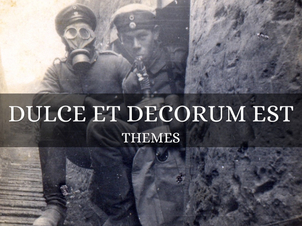 "comparision anthem for doomed youth and dulce et decorum est essay ""dulce et decorum est"" & ""anthem for doomed youth"" in the first line of the poem there is the use of imagery where the author talks about 'bent double, like beggars under sacks' (arp and greg 637."