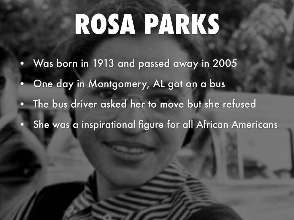 essays about rosa parks Rosa parks firmly stood up for what she believed and it was time for her to show the world who she was and what she believed in rosa was born on february 4th, 1913 in tuskegee, alabama every since class 9 (high school.
