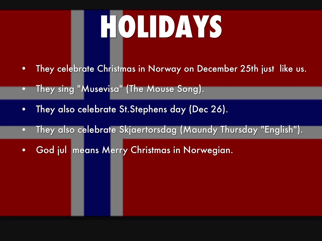 Merry Christmas In Norwegian.Christmas In Norway By Caleb Nanji
