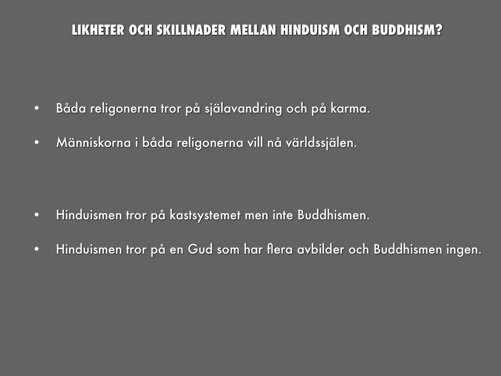 likheter mellan hinduism och buddhism