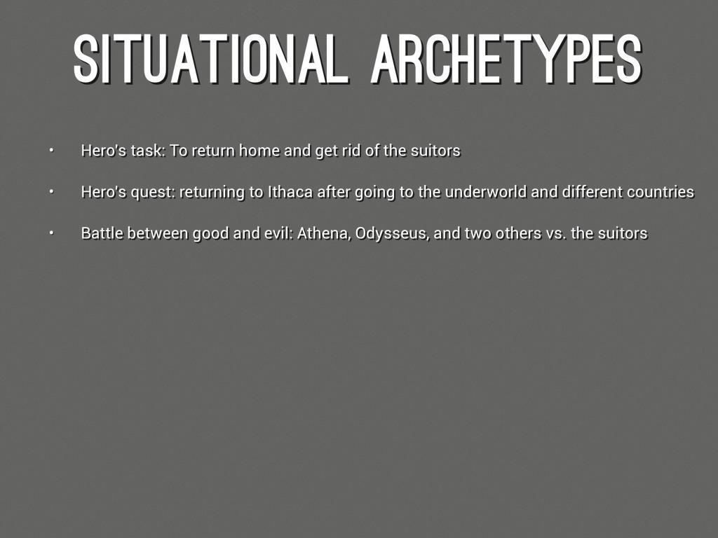 Archetype and odysseus