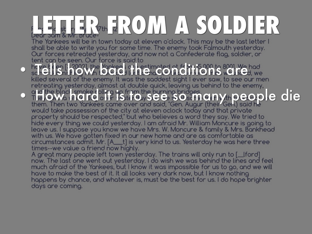 letter from a soldier