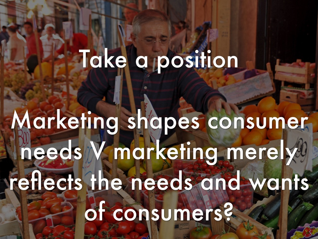 marketing merely reflects the needs and wants of consumers pdf