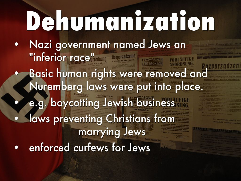 night dehumanization jews