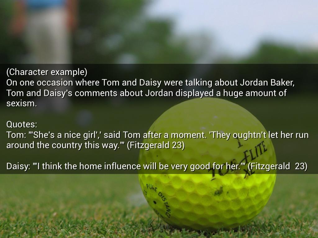 great gatsby golfer