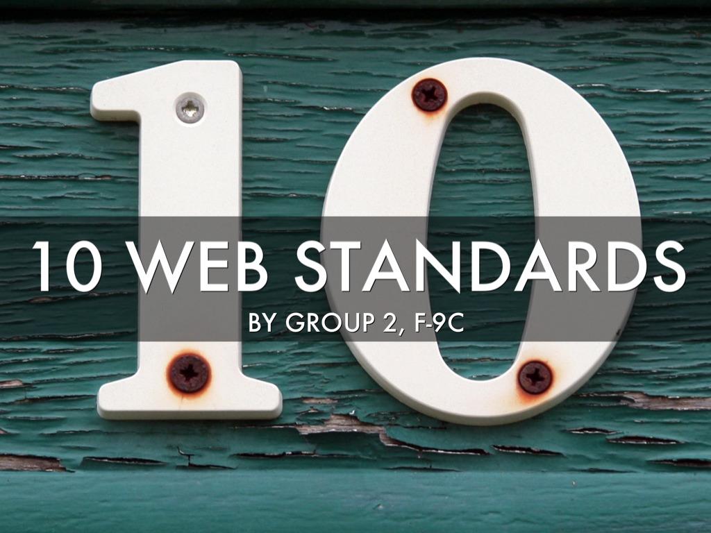 10 Web Standards
