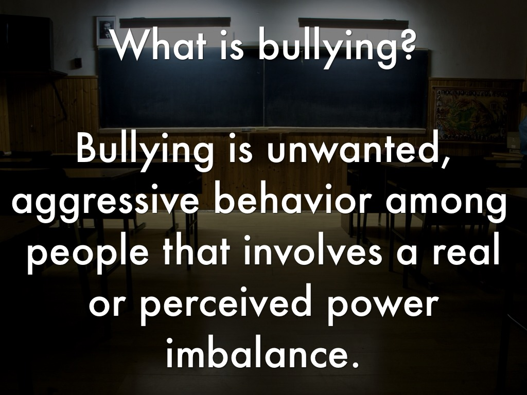 bullying unwanted aggressive behavior involving a