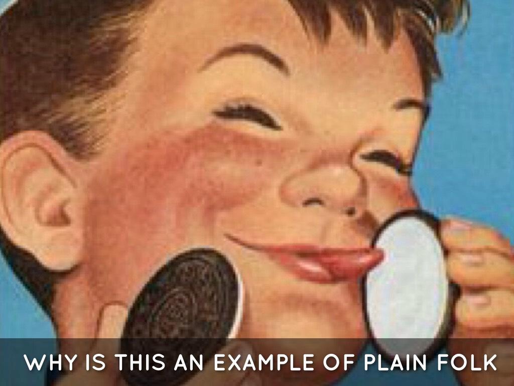 What is plain folks propaganda?