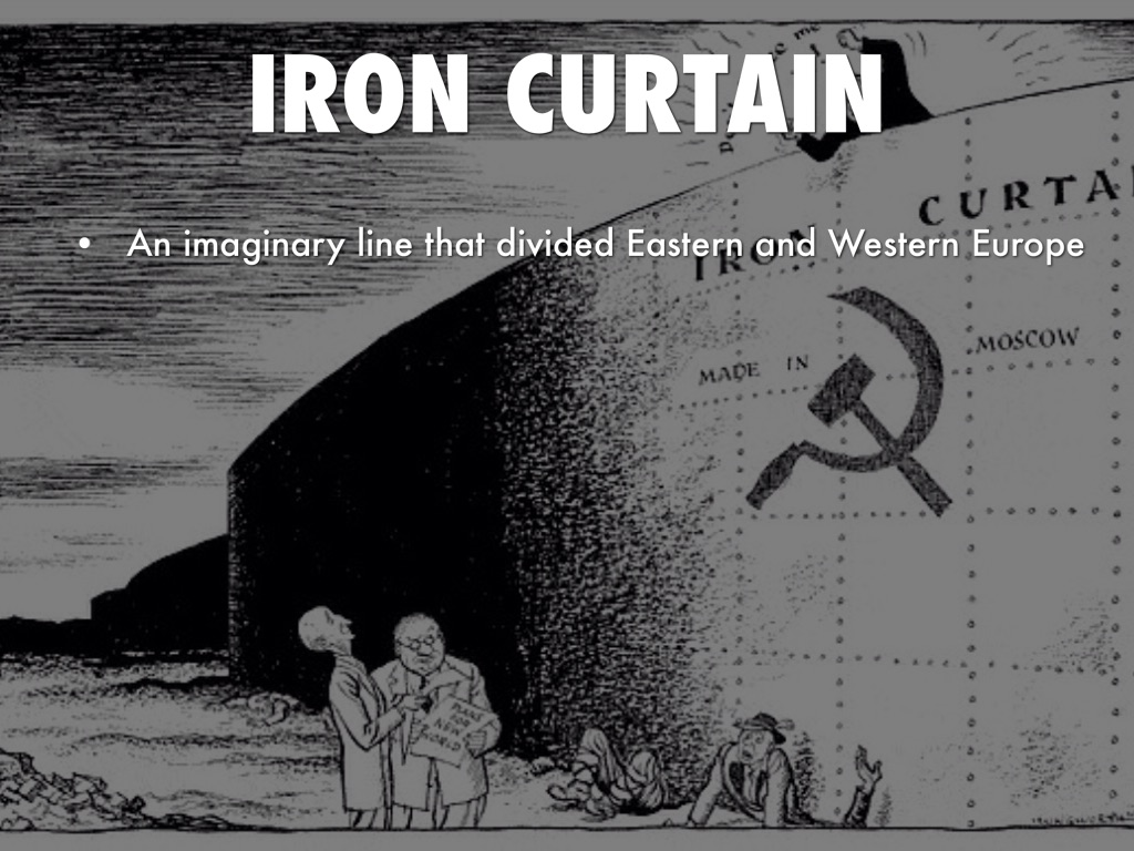 Iron curtain cartoon - 4