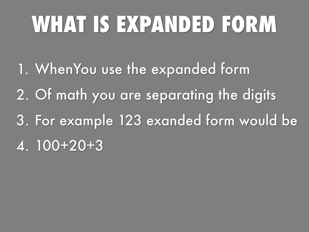 Standard and expanded form by demaree neal standard and expanded form falaconquin