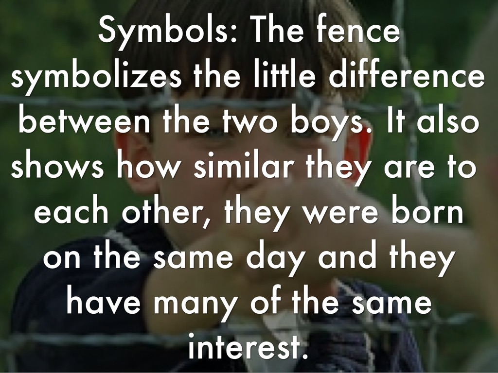 symbolism in the boy in the striped pajamas