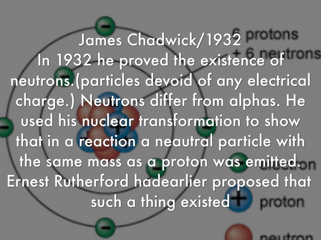james chadwick atomic model - photo #22