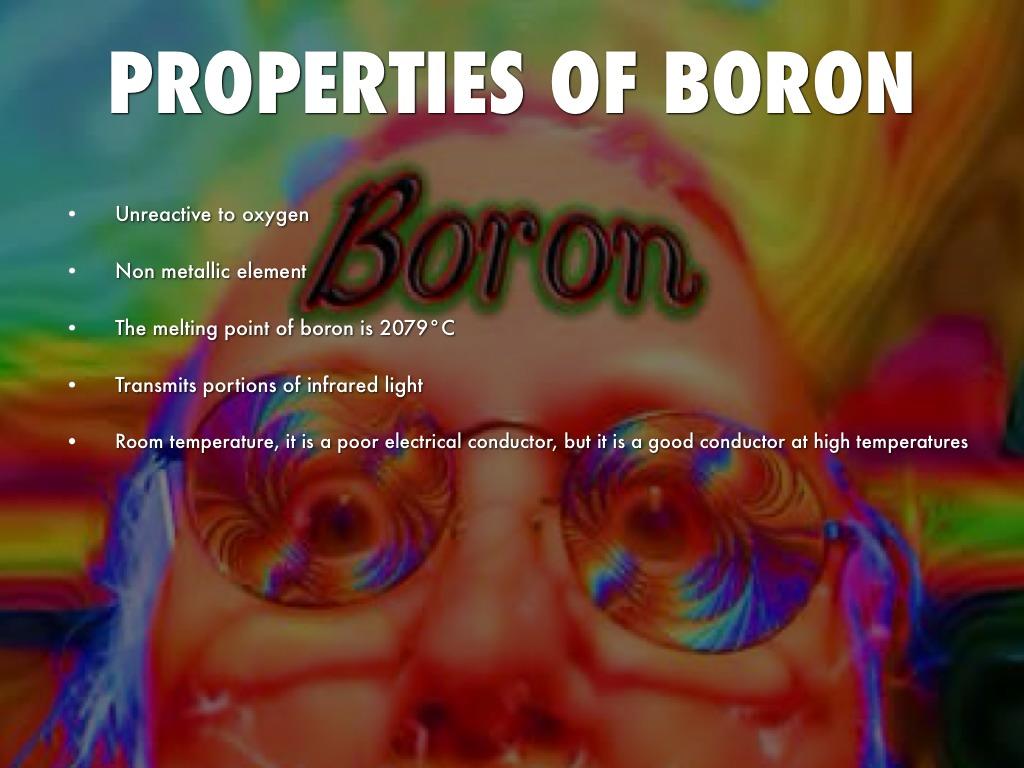 Properties Of Boron At Room Temperature