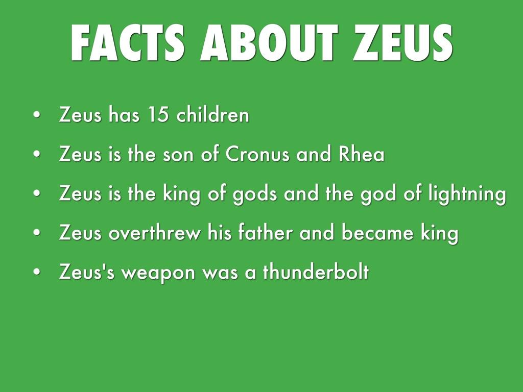 interesting facts about zeus greek mythology the best fact 2017