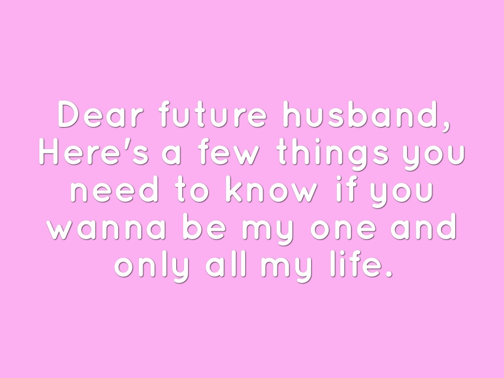 Dear Future Husband by Allison Tran