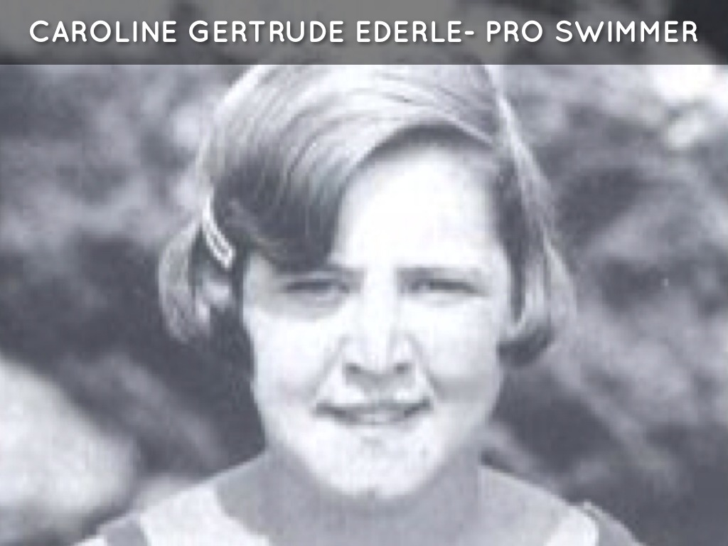 the biography of gertrude ederle Third grade students in ms jennings' title i class at st ann read you can't stop trudy, a biography about gertrude ederle, the first woman to swim the english channel.
