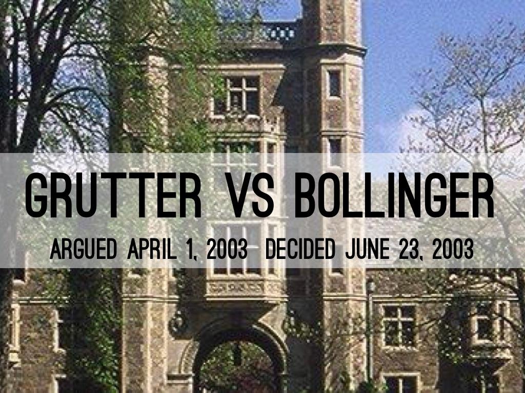 grutter vs bollinger by jason woodson