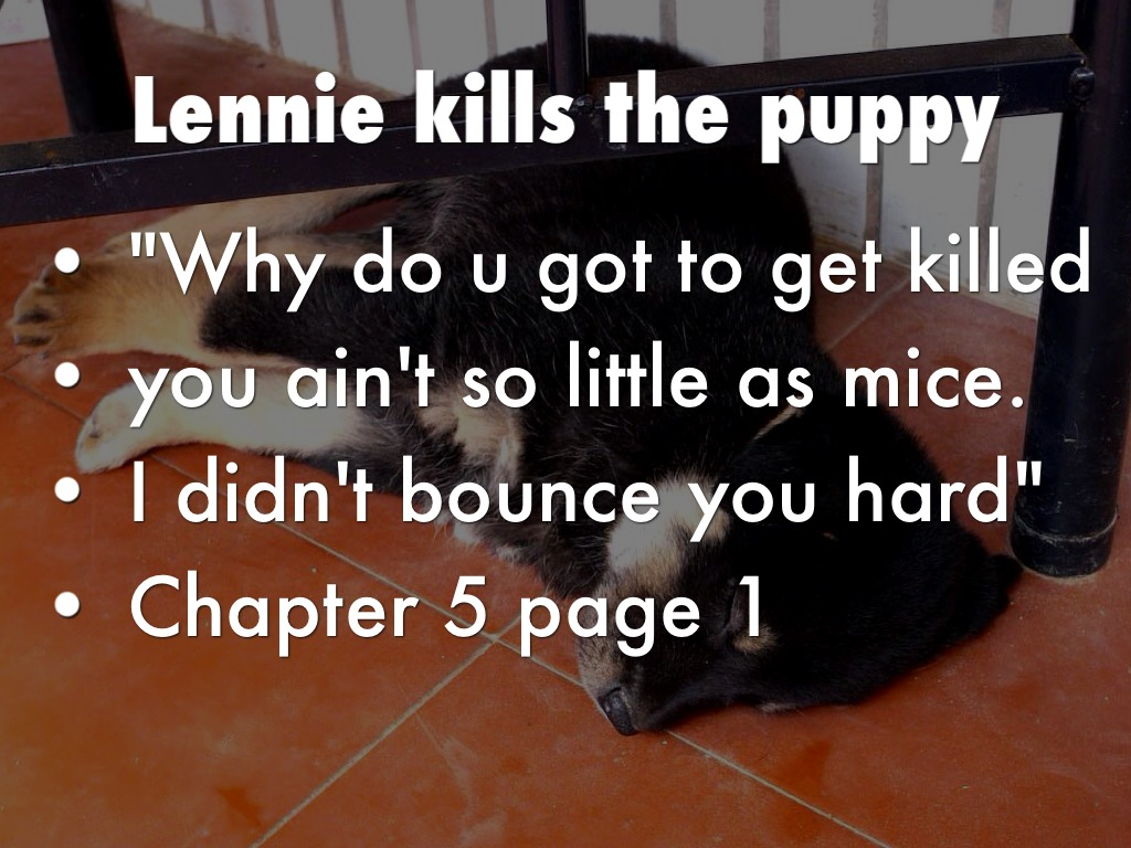 lennie kills puppy