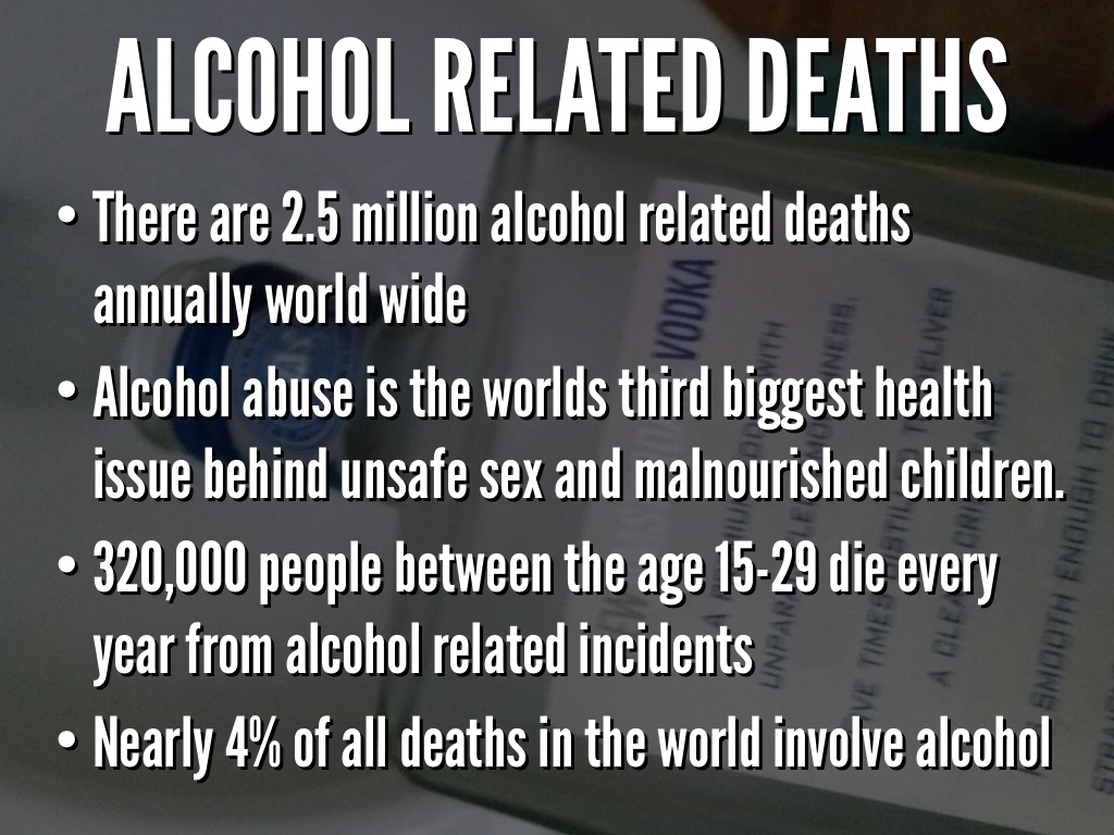 alcohol related deaths
