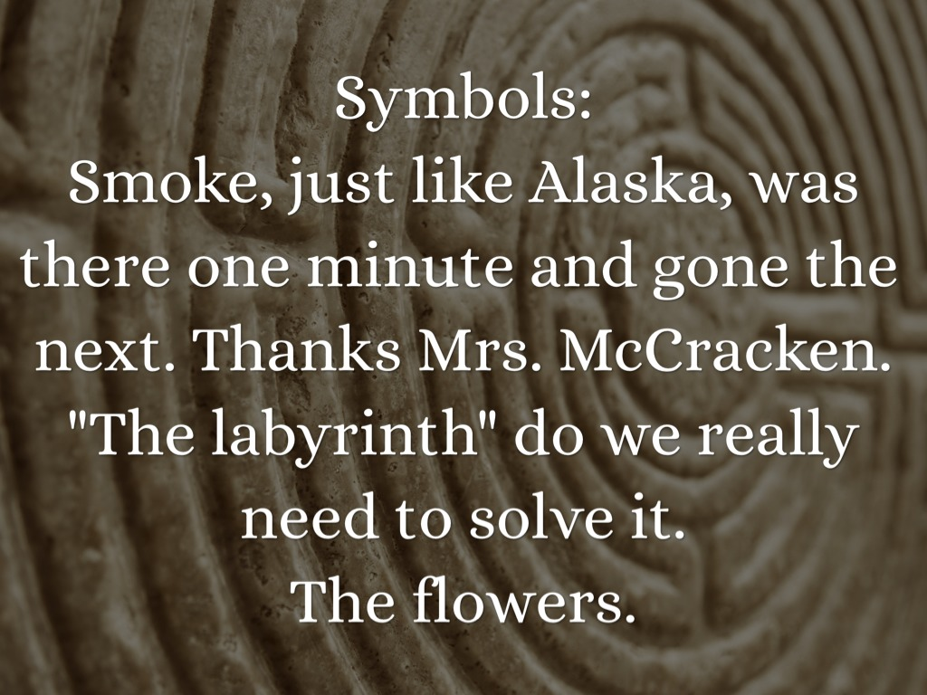 Theme Of Looking For Alaska: Looking For Alaska By Holly Adams