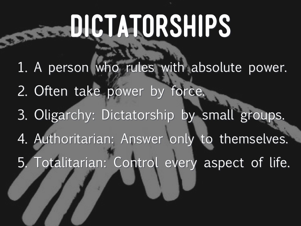 authoratarian and totalitarian dictators Difference between totalitarianism and dictatorship totalitarian regimes are aggressively nationalistic and implement many a time dictators are.