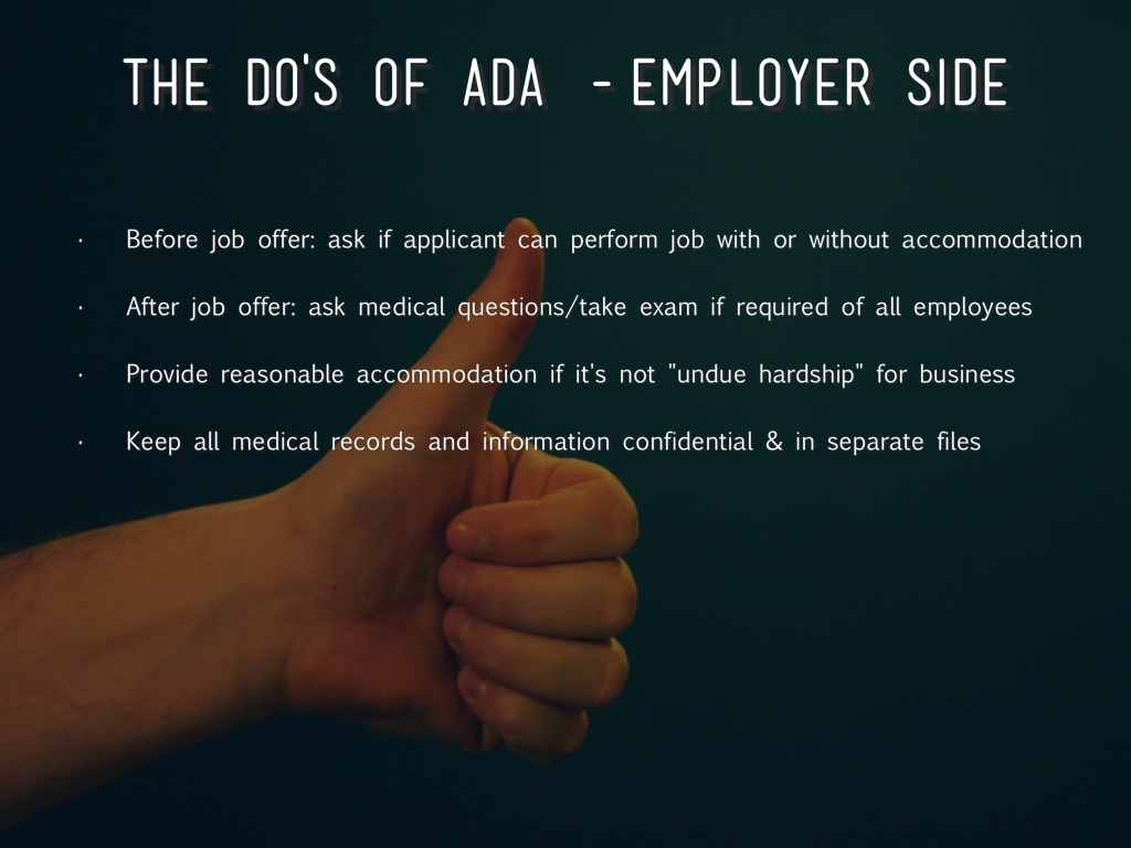 the dos of ada employer side before job offer ask - After Job Offer Questions To Ask