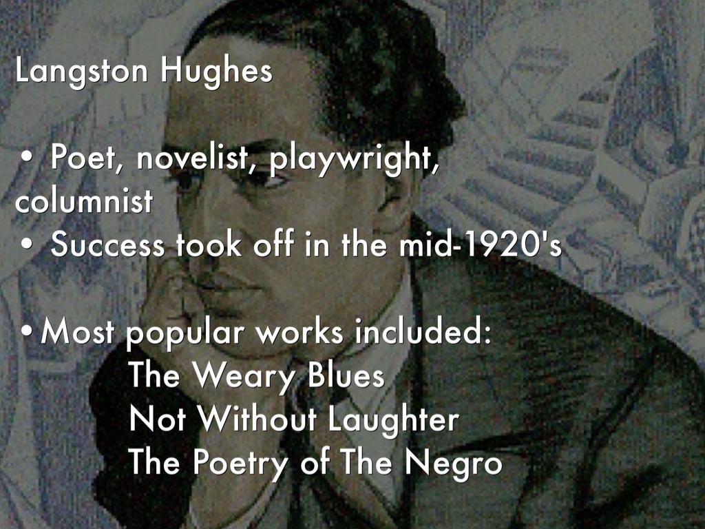 langston hughes views on him being the negro poet