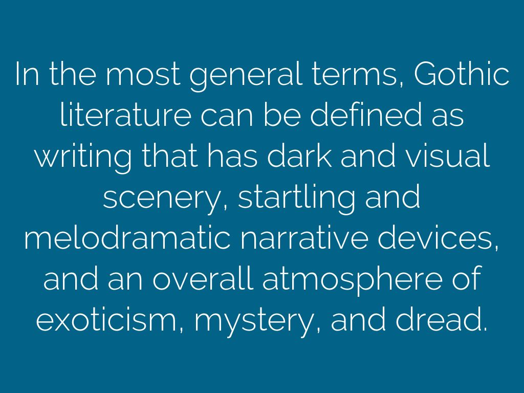 gothic literature definition
