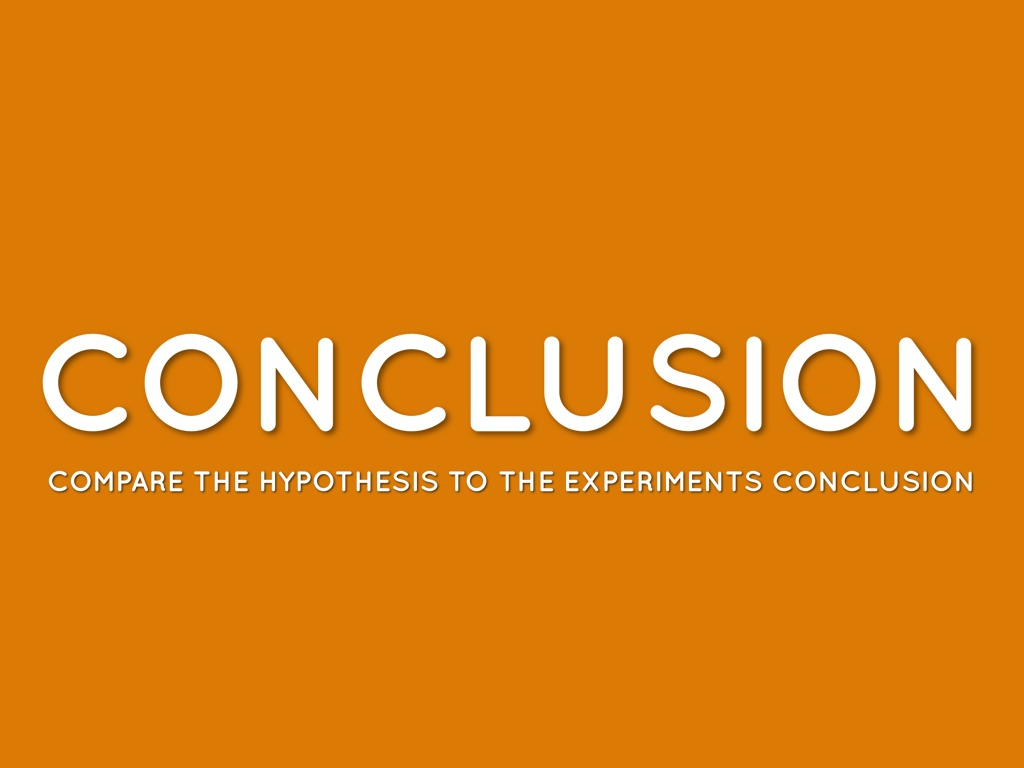 what is a conclusion scientific method