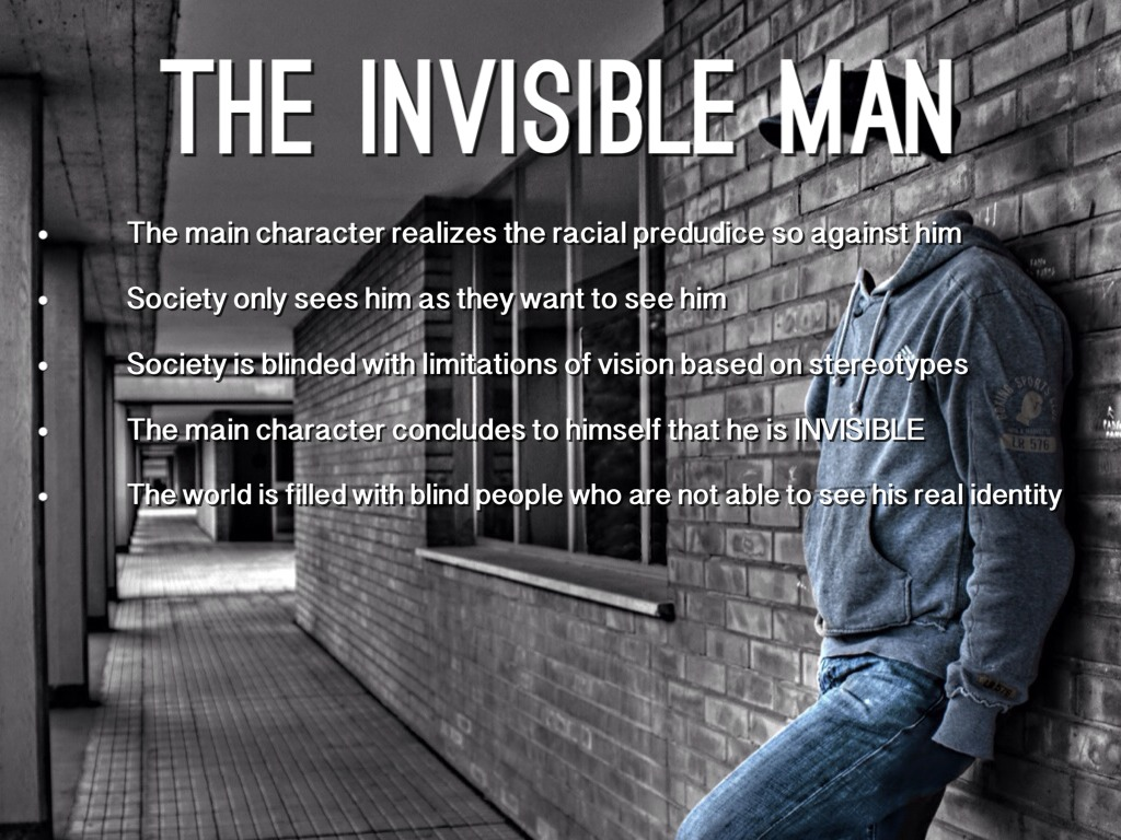 invisible man essay the phases of invisibility The book the invisible man is one of the crowning examples of xixth century fantastic fiction even though it is an early work of science fiction i feel that it is in his book, hg wells ventures into the abstract concept of invisibility and the human emotions and reactions involved in the attainment and.