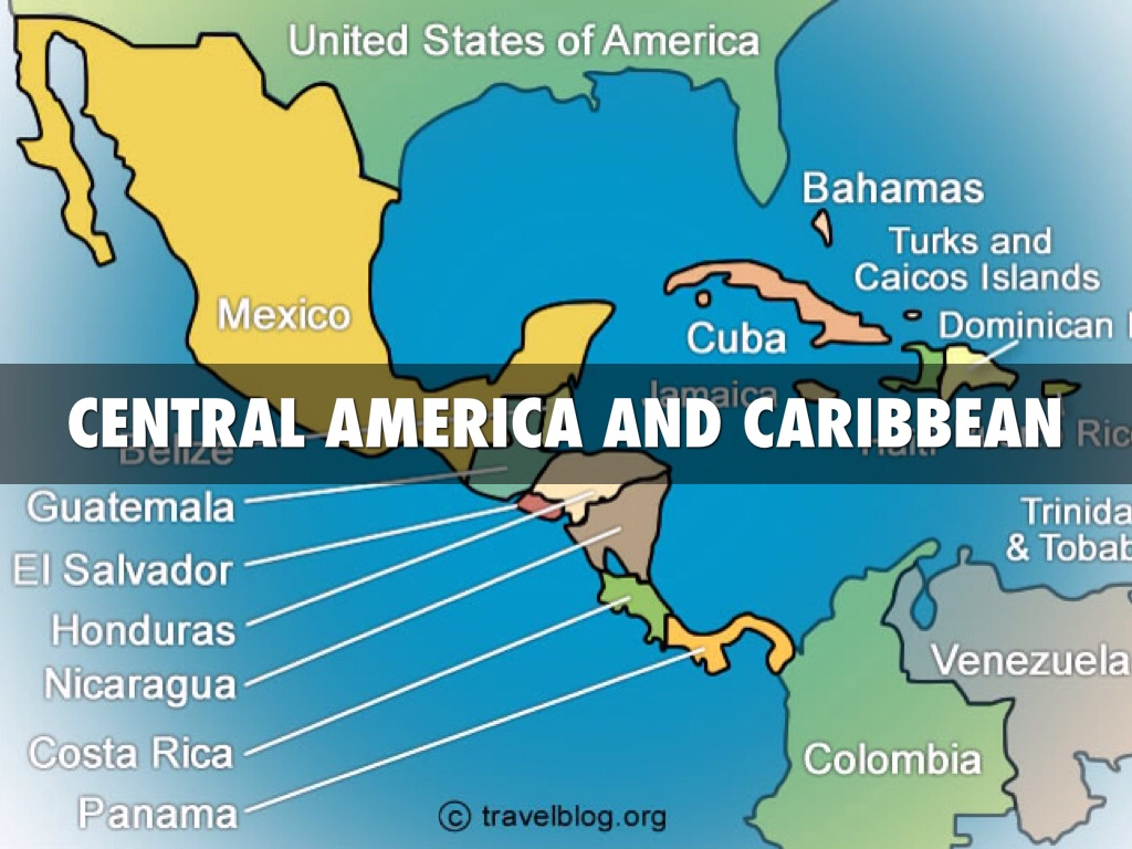 Central America And Caribbean By Sabrina Miller - Central america and the caribbean islands map