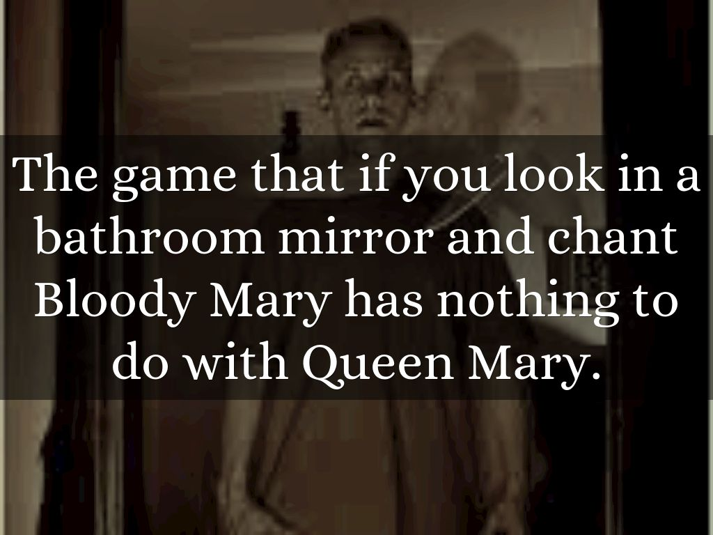 Bloody mary in the bathroom mirror