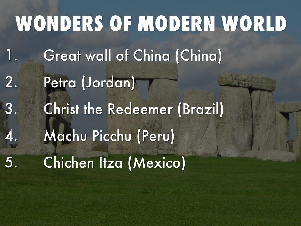 Modern 7 wonders of the world - Wonders Of Modern World