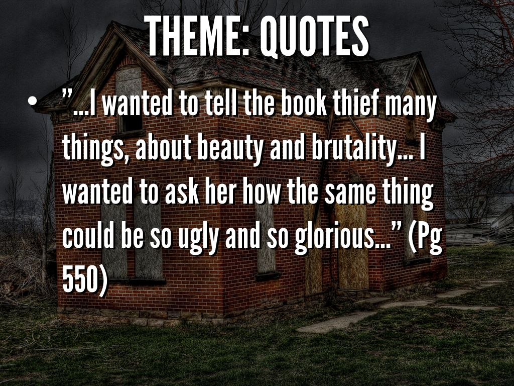 "The Book Thief Quotes An Important Quote Exploration Of ""the Book Thief"" By"