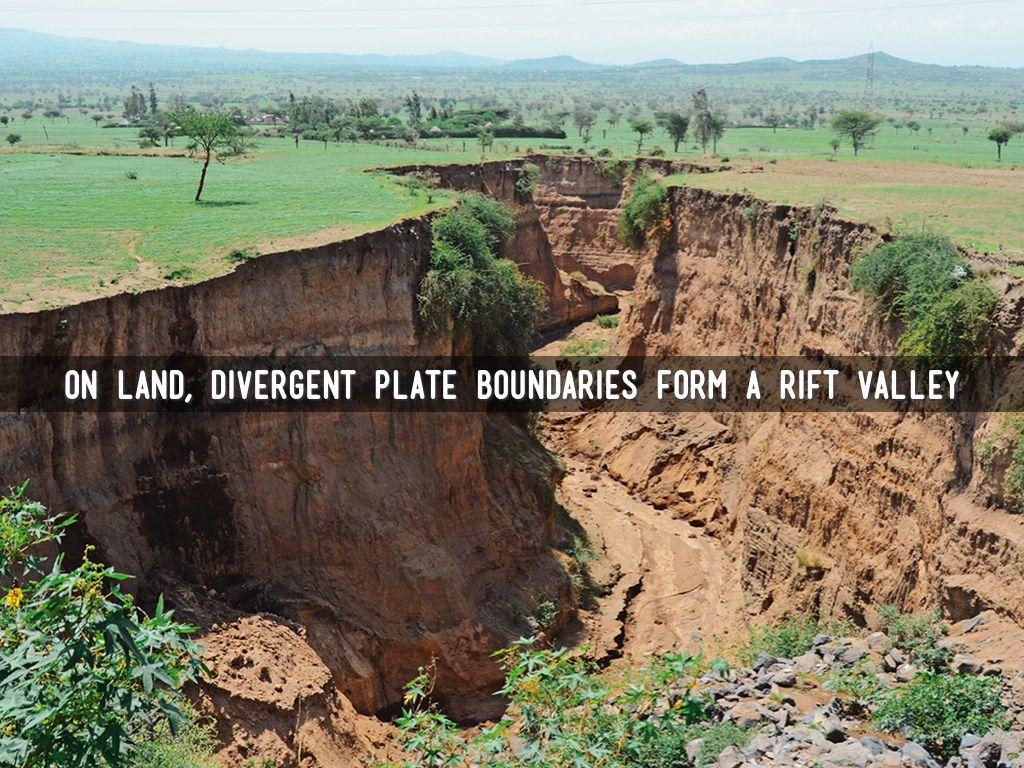Plate boundaries 3 main types: –1. Divergent boundaries plates.