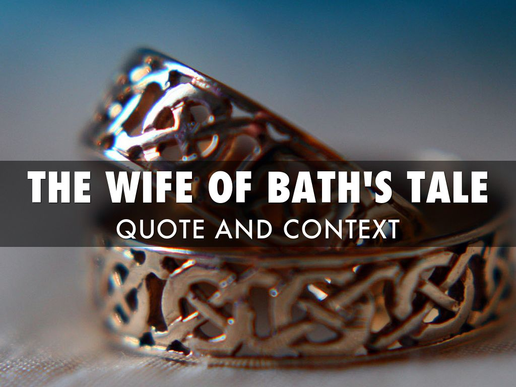 character analysis of allison in the wife of baths tale by geoffrey chaucer