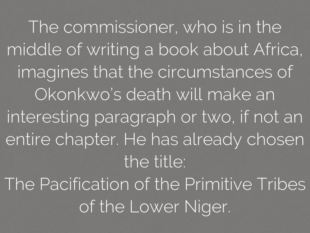the pacification of the primitive tribes